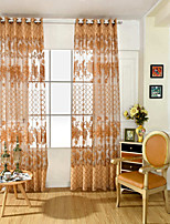 One Panel Curtain European / Neoclassical , Flower Living Room PVC Material Sheer Curtains Shades Home Decoration For Window