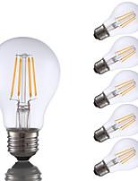 4W E26 LED Filament Bulbs A19 4 COB 350 lm Warm White Dimmable 120V 6 pcs