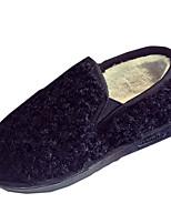נשים-מגפיים-PU-נוחות-שחור חום אפור-יומיומי-עקב שטוח