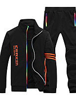 Running Tracksuit / Clothing Sets/Suits Men's Long Sleeve Soft / Comfortable Cotton Running Sports Wear SlimIndoor / Outdoor clothing /