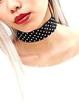 Ожерелье Без камня Бижутерия Halloween / Свадьба / Для вечеринок / Повседневные Мода Ткань Женский 1шт Подарок Черный