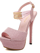 Women's Sandals Ruched Bowknot Buckle Heels/Pumps Peep Toe Platform Ankle Strap Hollow-out Stiletto Heel Sandals