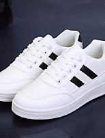 Черный / Белый-Женский-На каждый день-ДерматинУдобная обувь-Кеды