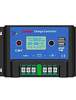 PWM 12/24V 10ALCD Dual USB Compensation de température de la batterie automatique Contrôleur de régulateur solaire Avec Protections complètes