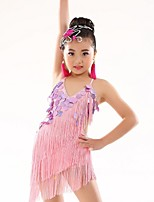 Belly Dance Dresses Children's Performance Polyester Appliques / Tassel(s) 1 Piece Sleeveless Natural Dressfit height 120-140cm, fit