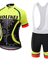 WOLFKEI Summer Cycling Jersey Short Sleeves BIB Shorts Ropa Ciclismo Cycling Clothing Suits #08