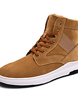 Men's Combat Boots Fashion High Top Shoes Comfort Suede Boots Party & Evening Flat Heel Lace-up Black / Brown / Gray