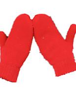 Femmes mitaines de laine chaudes (rouge)