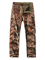 Outdoor Hunting Camping Waterproof Sharkskin Soft Shell Fleece Lined Warm Wear-resisting Casual Pants Trees Camouflage