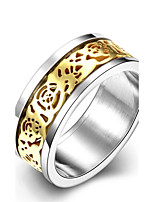 Ring Wedding / Party / Daily / Casual / Sports Jewelry Stainless Steel / Zircon / Gold Plated Women Ring / Engagement Ring 1pc,6 / 7 / 8