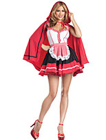 Cosplay Costumes Cosplay Movie Cosplay Red Solid Dress / Shawl Halloween / Carnival Female Polyester