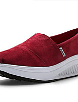 Women's Athletic Shoes Spring Summer Fall Winter Platform Canvas Outdoor Casual Athletic Platform Others Blue Burgundy