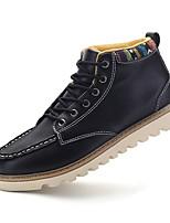 Черный Синий Коричневый-Мужской-Повседневный-Полиуретан-На плоской подошве-Удобная обувь-Ботинки