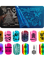 1pcs Christmas Nail Art Stamping Plates Winter Snow Flowers Printing Patterns