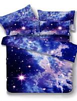 Bedtoppings Duvet Cover 4PCS Set (Random Pattern) Universe Style