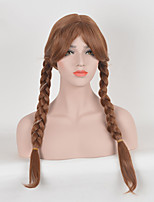 Fashion Women Brown Color Braids Cosplay Synthetic Wigs