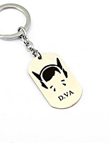 Inspired by D.VA Overwatch  Anime Cosplay Accessories Keychain Silver Alloy