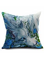 Animal Cartoon Cotton Linen Throw Pillow Case Home Decorative  Cushion Cover Pillowcase Car Pillow cover(Set of 1)
