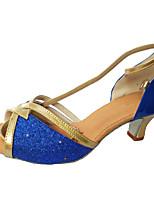 Customizable Women's Dance Shoes Paillette Dance Sneakers Heels Customized Heel Indoor