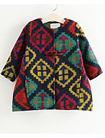 Girl Casual/Daily Patchwork Blouse,Cotton Winter / Fall