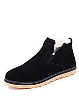 Men's Boots Spring Fall Winter Comfort Suede Outdoor Casual Flat Heel Black Blue Yellow