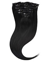 Neitsi 20'' 100g 7Pcs Clip in on Human Hair Extensions 100% Straight Remy Hair Full Head