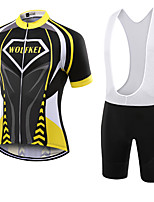 WOLFKEI Summer Cycling Jersey Short Sleeves BIB Shorts Ropa Ciclismo Cycling Clothing Suits #01
