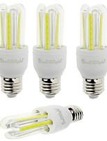 7W E26/E27 Lâmpadas Espiga T 6 COB 600 lm Branco Frio Decorativa V 4 pçs
