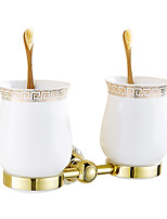 Toothbrush Holder / Gold17*11.5*10 /Brass / Crystal /Contemporary /17 11.5 0.96