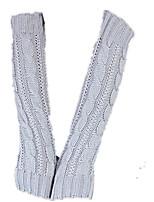 Mme. gants tricotés longs (gris clair un paquet de deux paires d'un paquet de vente)