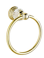 Towel Ring / Gold20*16*8 /Brass / Crystal /Contemporary /20 16 0.42