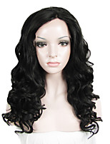 IMSTYLE 20''Natural Looking Curly Wave Synthetic Lace Front Wigs Heavy Density
