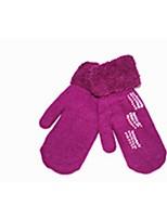 (Beachten Sie - lila) warme Doppelstauch- bezieht sich auch auf weibliche Handschuhe gestrickt