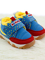 Boy's Flats Winter First Walkers Fabric Outdoor Casual Flat Heel Pink Royal Blue