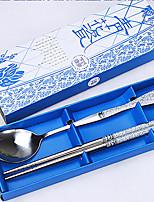 Нержавеющая сталь 304 палочки для еды Chopstick 4 шт.
