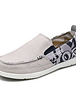 Men's Spring Fall Round Toe Canvas Casual Flat Heel Slip-on