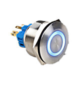 poussoir métallique bouton interrupteur avec lampe de remise à zéro