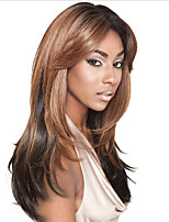 Medium Brown #4 Invisible Deep Lace L Part Human Hair Straight 20inch Human Hair Lace Front Wigs