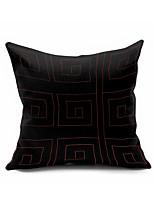 1 pcs Coton/Lin Housse de coussin / Taie d'oreiller,Géométrique Moderne/Contemporain / Décoratif