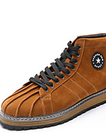 Men's Fashion Boots Casual Sneakers Comfort Synthetic Casual Flat Heel Lace-up Black / Brown