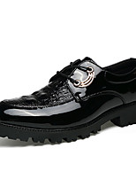 Men's Oxfords Spring Fall Comfort PU Casual Flat Heel Lace-up Black Walking