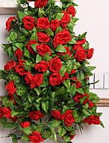 1 1 Ramo Outras Rosas Guirlandas & Flor de Parede Flores artificiais