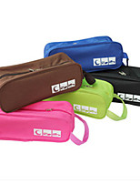 Shoes Storage Boxes For Travel Convenient For Changing Shoes Water Proof (Random Colour)