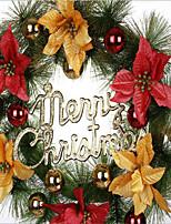 les couronnes de Noël décoration d'arbre de couronnes pendent 30cm