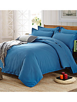 Solid Duvet Cover Sets 1 Piece Polyester solid Reactive Print Polyester Queen 1pc Duvet Cover / 1pc Sham / 1pc Flat Sheet