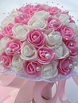 Bouquets de Noiva Redondo Rosas Buquês Casamento / Festa / noite Espuma 9.84