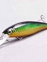1 pcs Hard Bait / Minnow Minnow Dark Blue / Green / Pink / yellow shad / Dark Green / Random Colors / Red 10 g/3/8 oz. Ounce mm/3-1/4