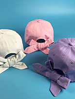 Pure color bow Curved eaves baseball cap Breathable / Comfortable Unisex BaseballSports