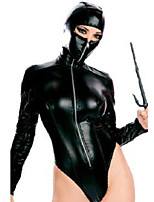 Ninja Movie Cosplay Black Solid Leotard/Onesie Halloween / Carnival Polyester