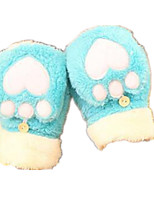 Half Is A Plush Love Warm Gloves (Sky Blue)